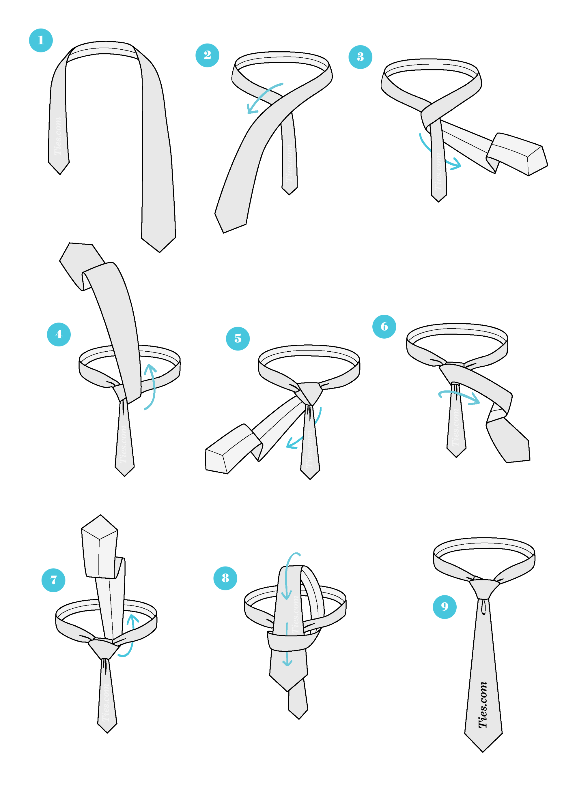hight resolution of how to tie a half windsor knot ties com half windsor knot instructions half windsor knot diagram