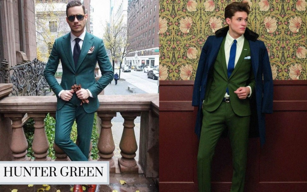 winter suit color hunter green