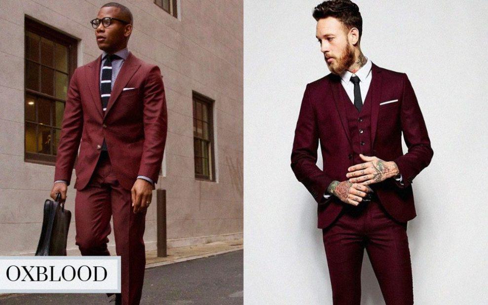 winter suit color oxblood