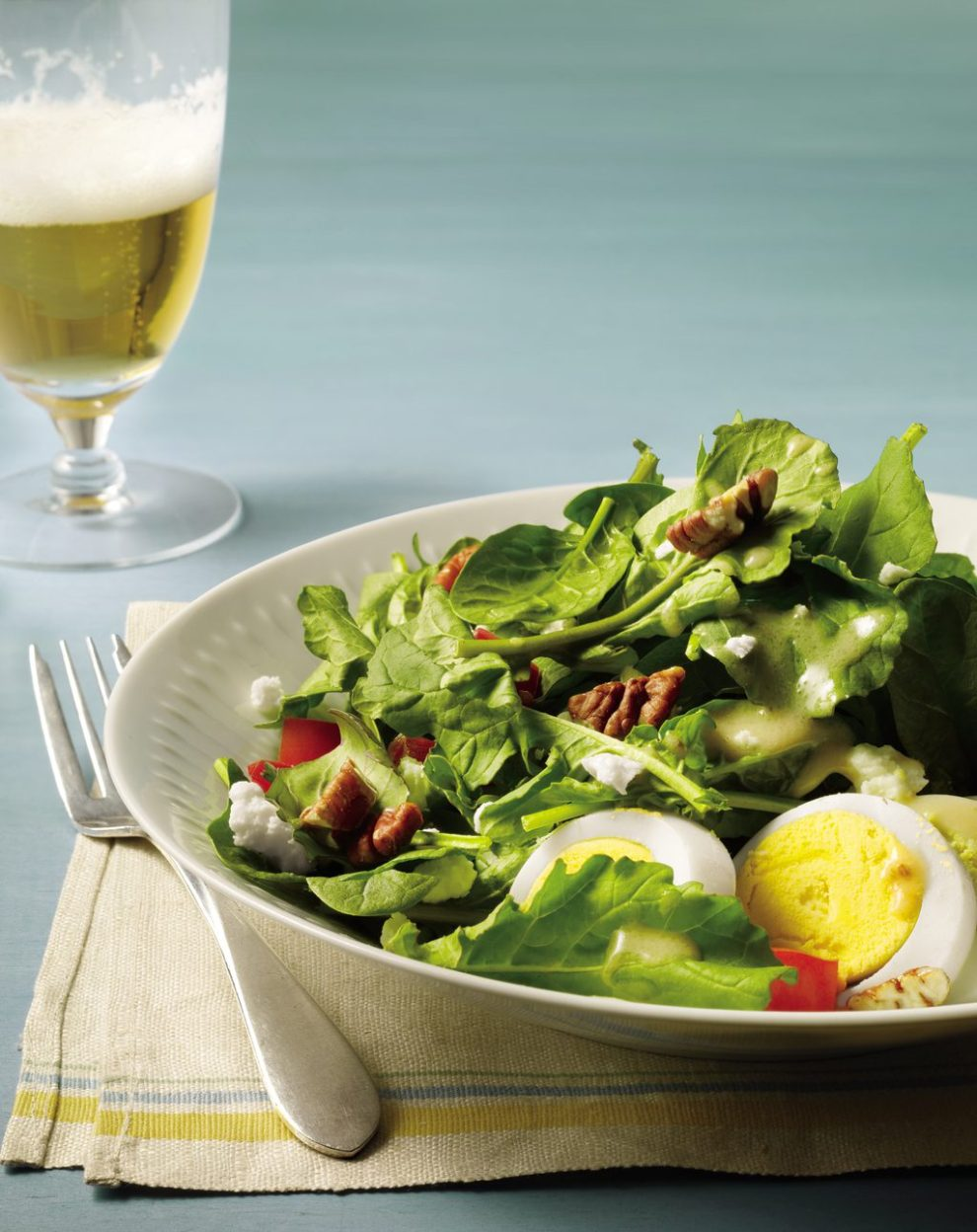 beer-with-salad