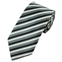 Black And White Striped Ties