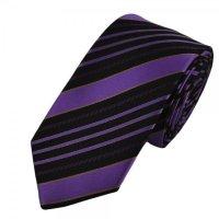 Ties Planet Black & Purple Striped Skinny Tie from Ties ...
