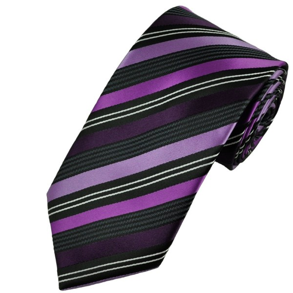 245a00fa08f4 Purple And Orange Striped Tie - Year of Clean Water
