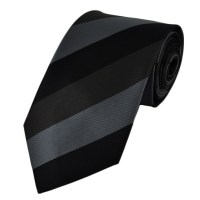 Black, Silver & Grey Striped Tie from Ties Planet UK