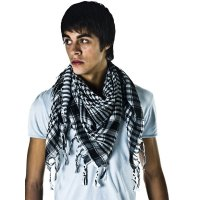 Black & White Shemagh Arab Fashion Scarf from Ties Planet UK