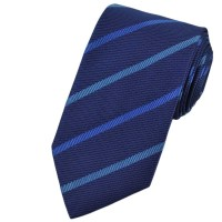 Blue Striped Patterned Silk Tie from Ties Planet UK