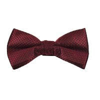 Burgundy & Black Micro Checked Bow Tie from Ties Planet UK
