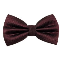 Burgundy Micro Check Bow Tie from Ties Planet UK