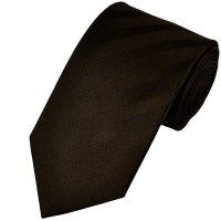 Dark Brown Self Patterned Silk Tie from Ties Planet UK