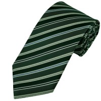 Dark Green, Blue, Navy & White Striped Silk Tie from Ties ...