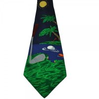 Navy Blue Golf Silk Tie from Ties Planet UK