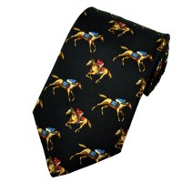 Horse Racing Black, Blue & Red Horse Racing Silk Novelty ...