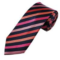 Navy Blue, Pink, Fuchsia, Coral & Salmon Striped Men's