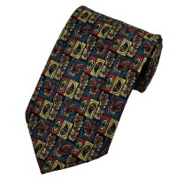 Paisley & Checked Rooster Themed Silk Tie from Ties Planet UK