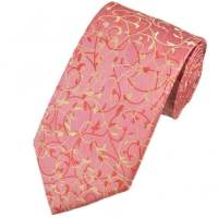 Pink, Peach & Cream Paisley Patterned Men's Tie from Ties ...