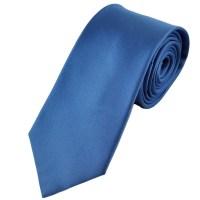Plain Blue Horizontal Ribbed Silk Tie from Ties Planet UK