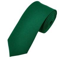 Plain Bottle Green Narrow Men's Tie from Ties Planet UK