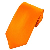 Plain Bright Orange Satin Tie from Ties Planet UK