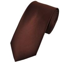 Plain Chocolate Brown 7cm Narrow Tie from Ties Planet UK