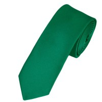 Plain Emerald Green Boys Skinny Tie from Ties Planet UK