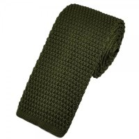 Plain Green Narrow Knitted Tie from Ties Planet UK
