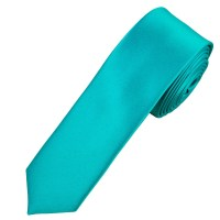 Plain Medium Turquoise Skinny Tie from Ties Planet UK