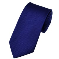 Plain Royal Blue Narrow Silk Tie from Ties Planet UK