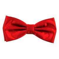 Plain Scarlet Red Bow Tie from Ties Planet UK