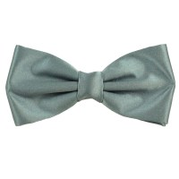 Plain Silver-Grey Bow Tie from Ties Planet UK