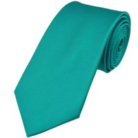 Plain Turquoise Silk Tie from Ties Planet UK