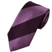 Purple & Lavender Striped Silk Tie from Ties Planet UK
