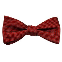 Red & Black Checked Patterned Men's Silk Bow Tie from Ties ...
