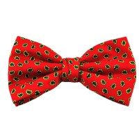Red & Black Patterned Bow Tie from Ties Planet UK