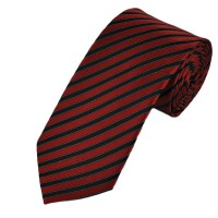 Red & Black Striped Boys Tie from Ties Planet UK