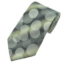 Silver Grey Circles Patterned Boys Tie from Ties Planet UK