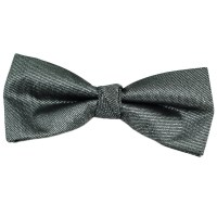 Silver Metallic Bow Tie from Ties Planet UK
