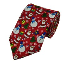 Snowman & Santa Claus Novelty Christmas Tie from Ties ...