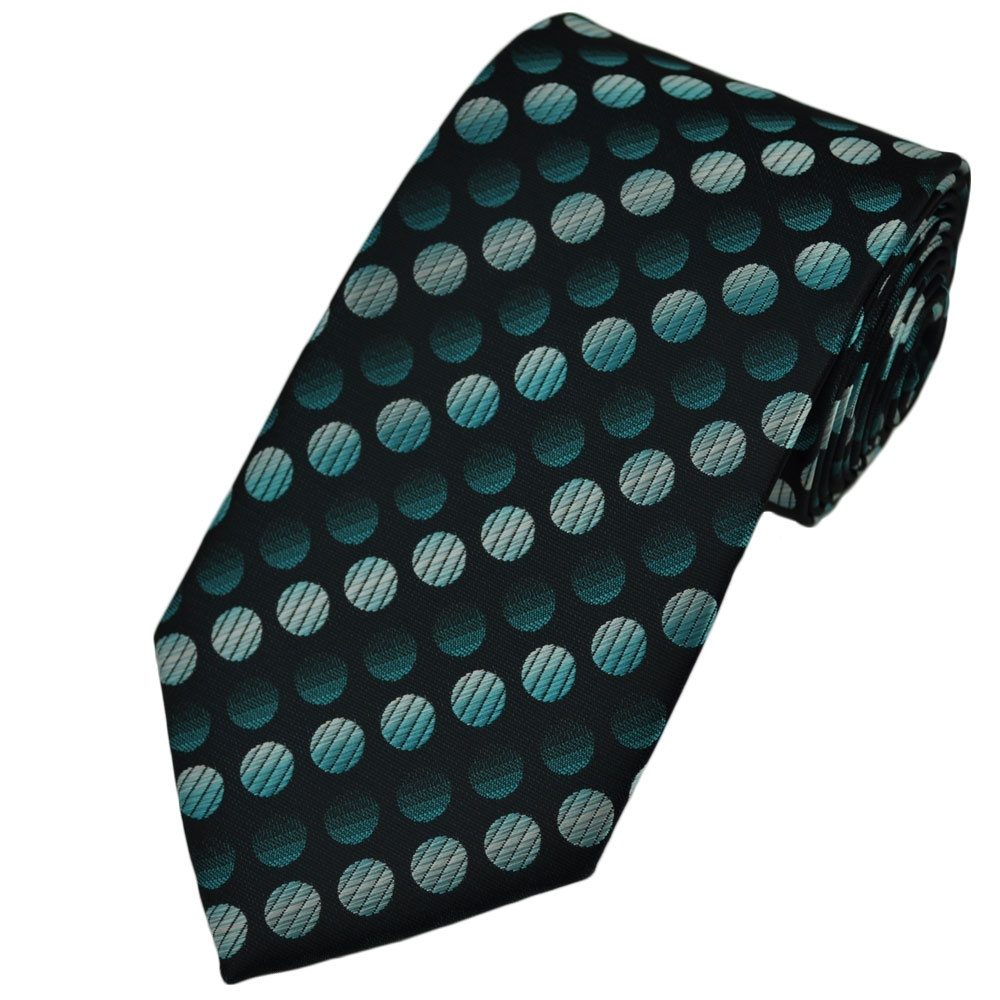 Teal Green & Silver Dot Tie from Ties Planet UK