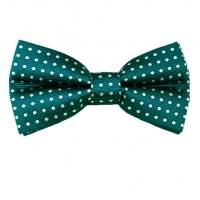Teal Green & White Polka Dot Men's Bow Tie from Ties Planet UK