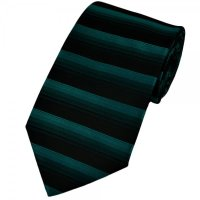 Turquoise & Black Horizontal Striped Tie from Ties Planet UK