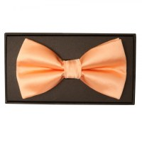 Plain Peach Mens Bow Tie