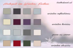 Hochzeit im Winter: Farb-Kombinationen