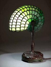 Nautilus Tiffany lamp. #401 Leaded Glass shade