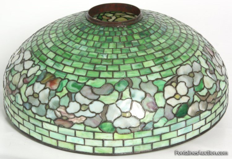 Tiffany Studios Banded Dogwood Table Lamp