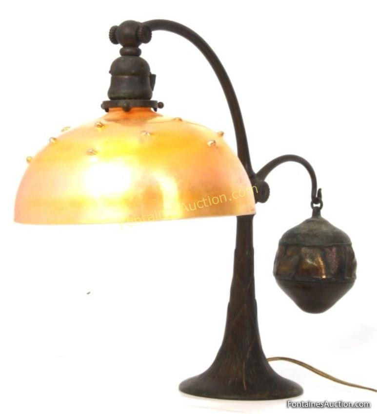 Tiffany Studios Counterbalance Desk Lamp