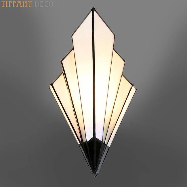 Tiffany Wall Lamp Art Dco B&W