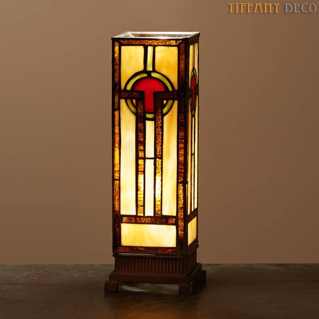 Square Tiffany Lamp Art Dco Small  the most beautiful