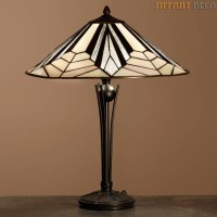 Tiffany Lamp Art Dco B&W