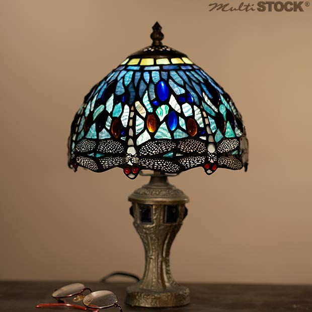 Tiffany Lamp Dragonfly Blue  the most beautiful Tiffany Lamps