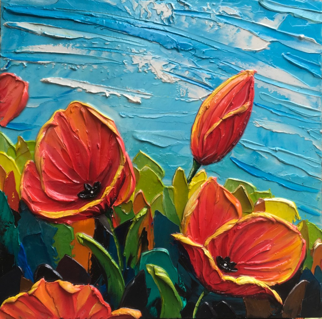 Iconic example of poppies made by artist Tiffany Horrocks
